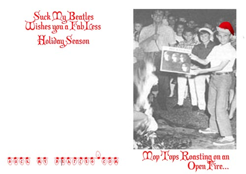 Beatles Christmas Card Roasting