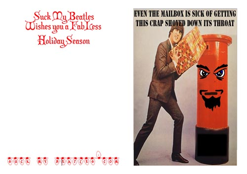 Beatles Mailbox Christmas Card