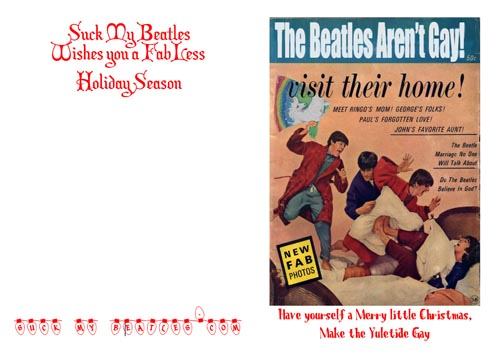 Beatles Yuletide Christmas Card