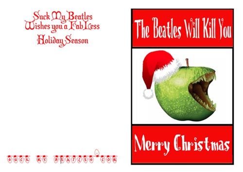 Killer Beatles Christmas Card