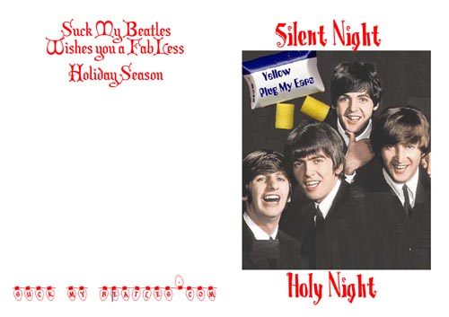 Beatles Silent Night Christmas Card