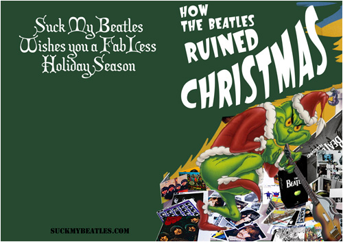 Free Beatles Christmas Card Grinch
