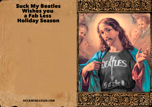 Jesus Hates the Bealtes Christmas Card