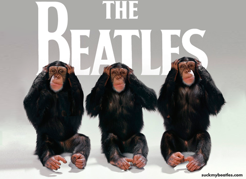 Three Wise Monkeys hate the beatles