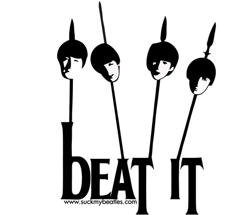 beatle heads on a stick free t-shirt iron on