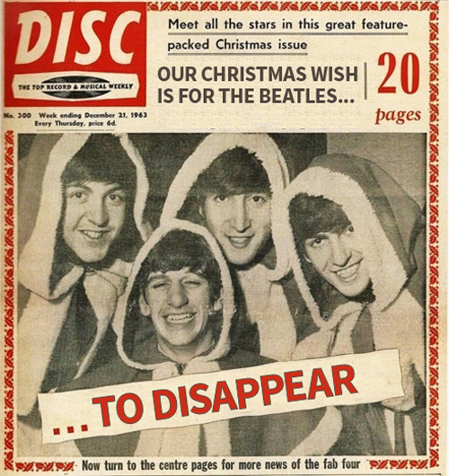 wish the beatles would disappear for christmas