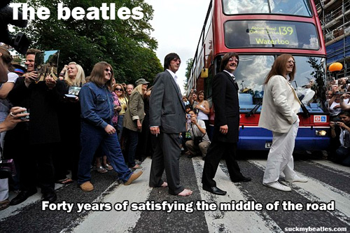 the beatles are middle of the road